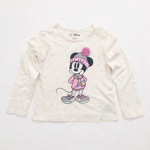 Gap Minnie Mouse motif ruffle trim tee